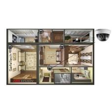 4 TurboHD камеры в дом