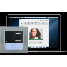 Комплект IP-видеодомофона Comelit с вызывной панелью iKall + ПО PC-intercom H264